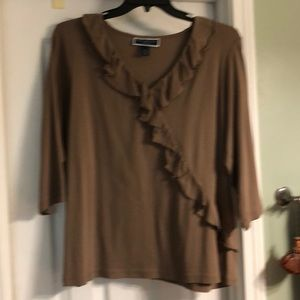 Brown top with ruffle